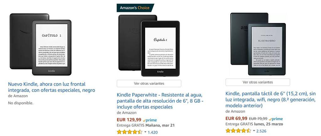Nuevo Amazon Kindle en la tienda de España