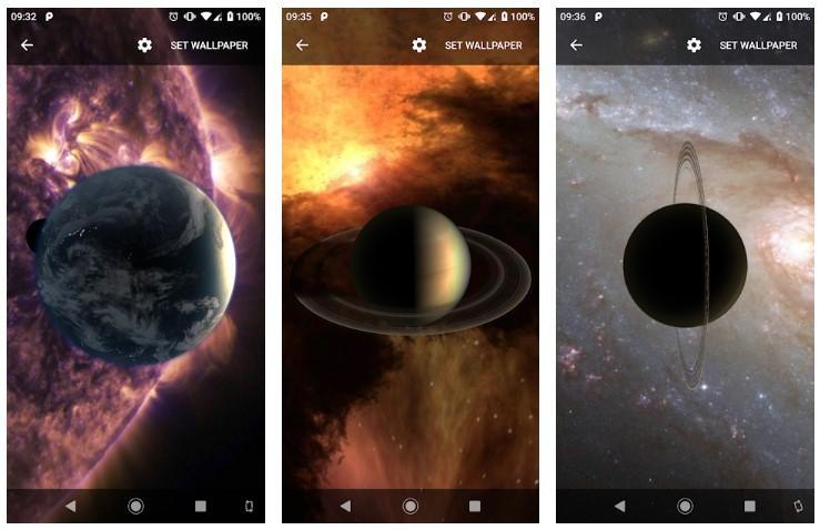 Aplicación Planets Live Wallpaper Plus