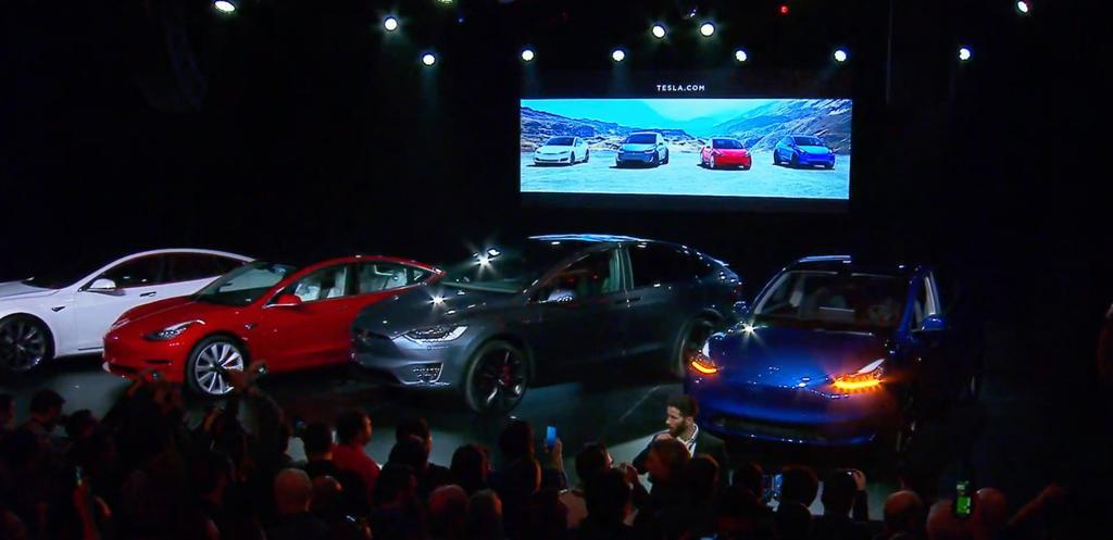 Presentación del coche Tesla Model Y