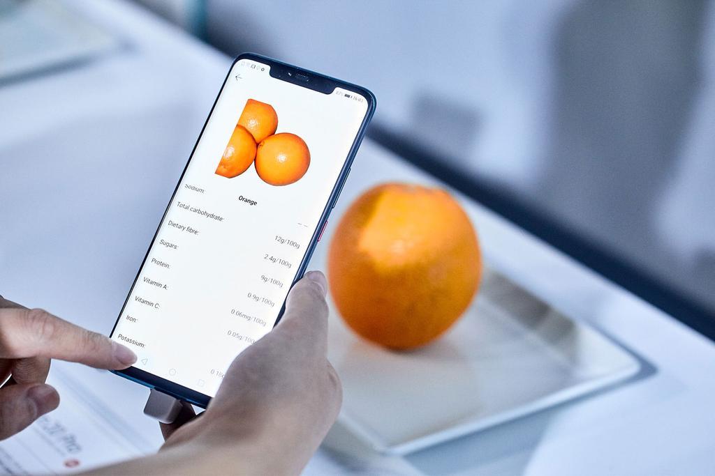 Reconocer calorías comida con el Huawei Mate 20 Pro