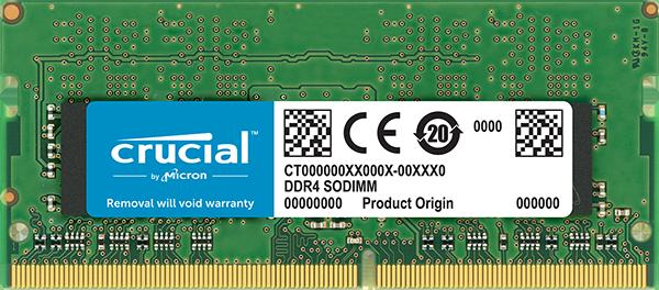 Memoria RAM tipo SODIMM de Crucial