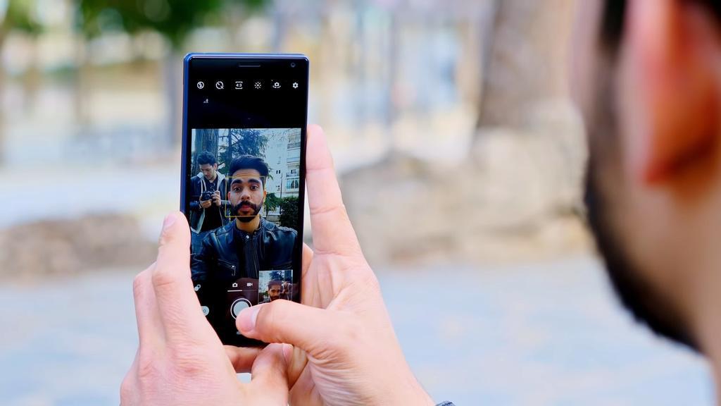 Cámara selfie del Sony Xperia 10
