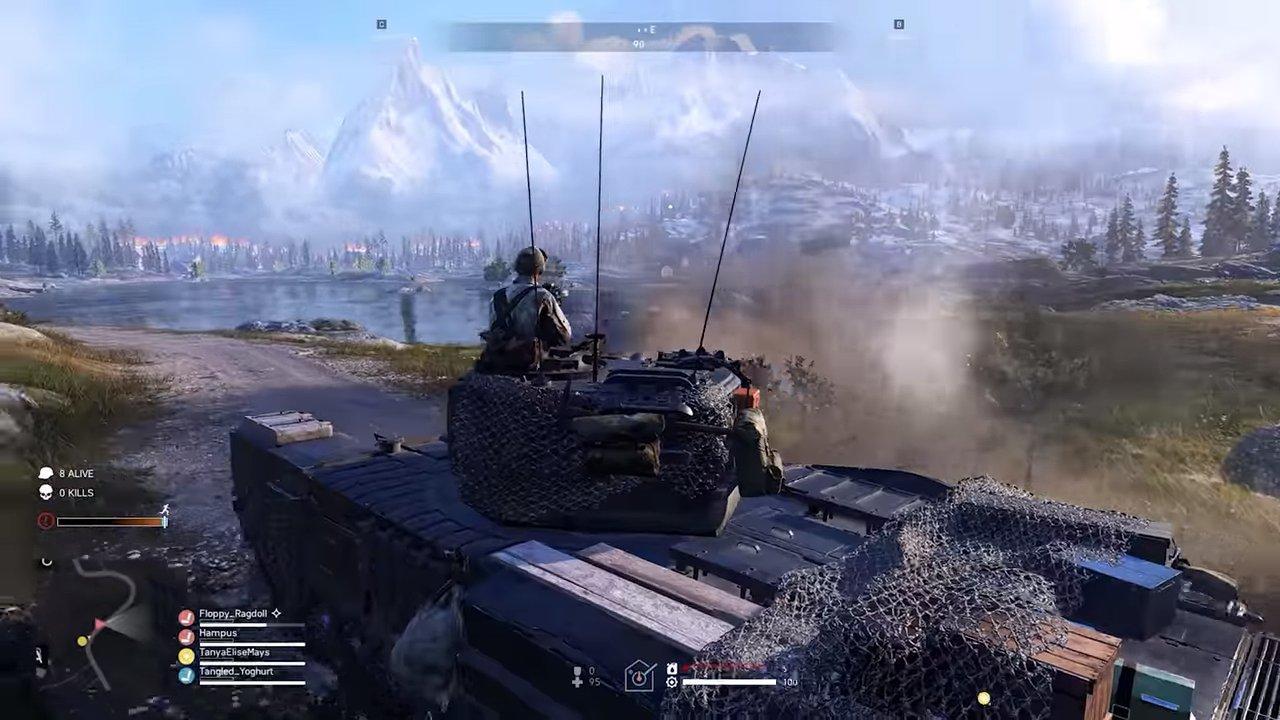 tanque del juego Battlefield 5 Firestorm
