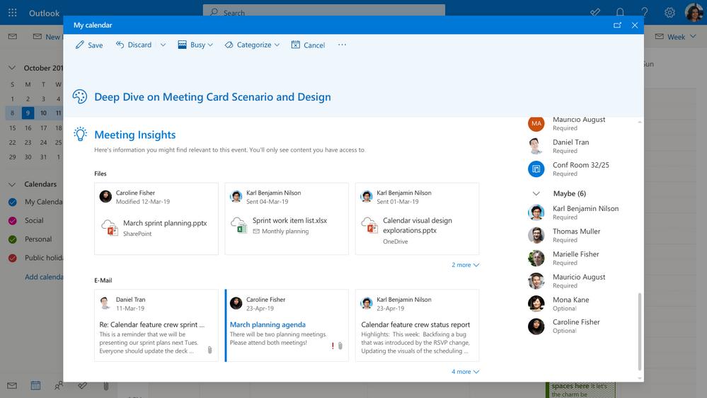 Novedades en Outlook web