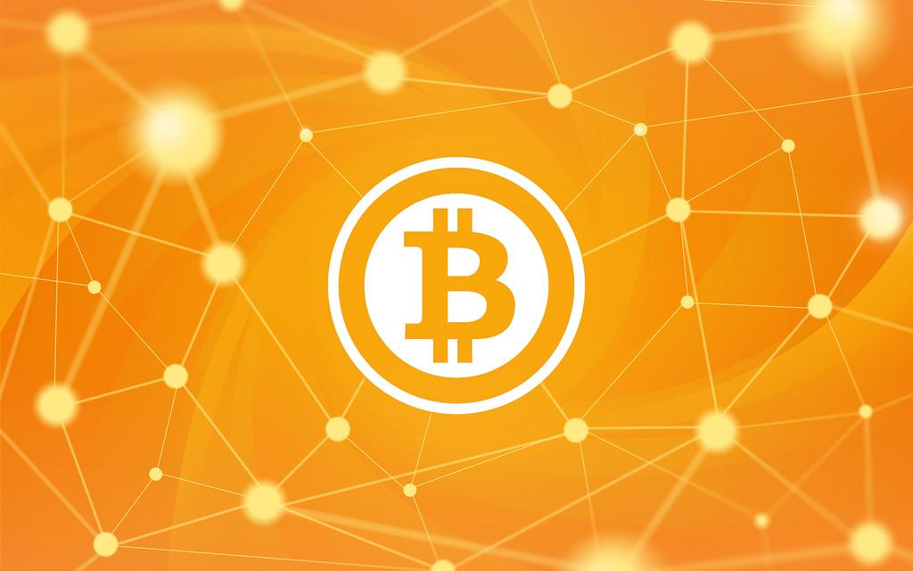 Logotipo de color amarillo d Bitcoin