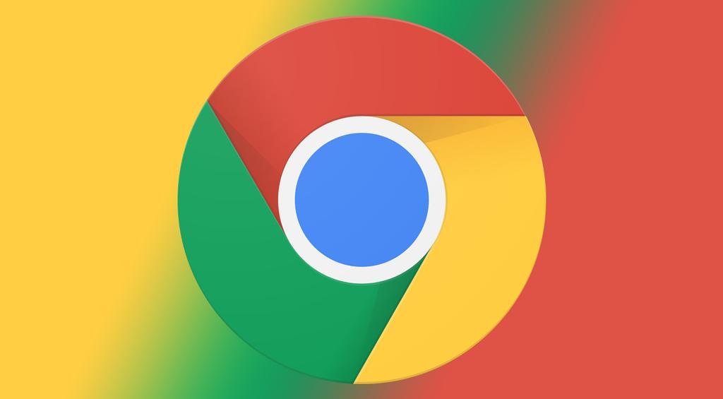 Logotipo de Google Chorme con fondo de colores