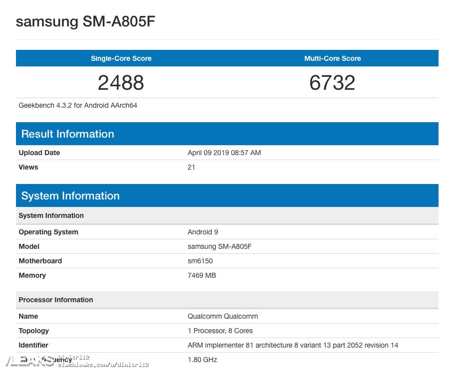 Características del Samsung Galaxy A80