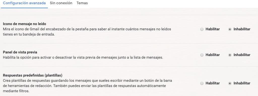 Activar la vista previa en Gmail