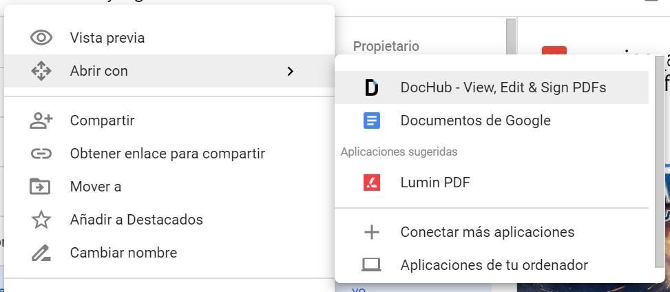 Convertir PDF con Drive