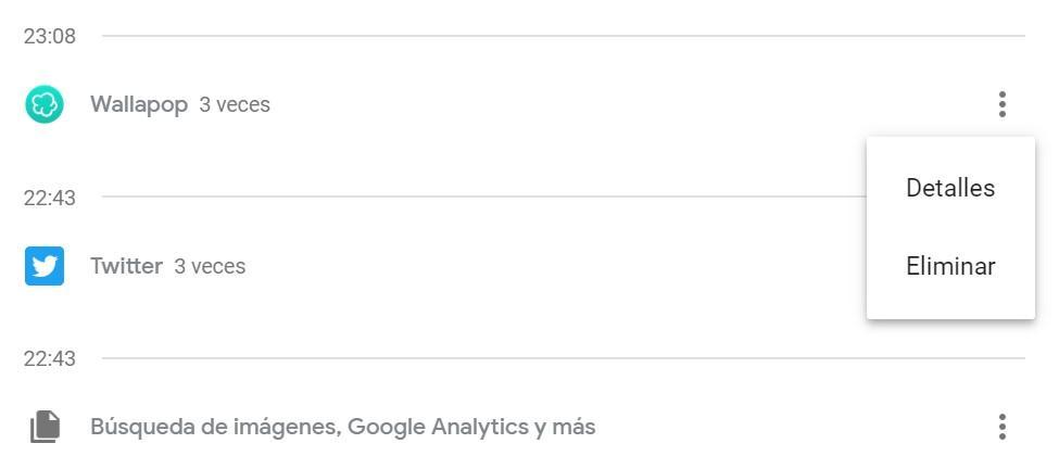 Eliminar Mi actividad Google