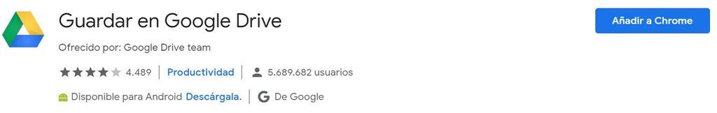 Extensión Guardar en Google Drive