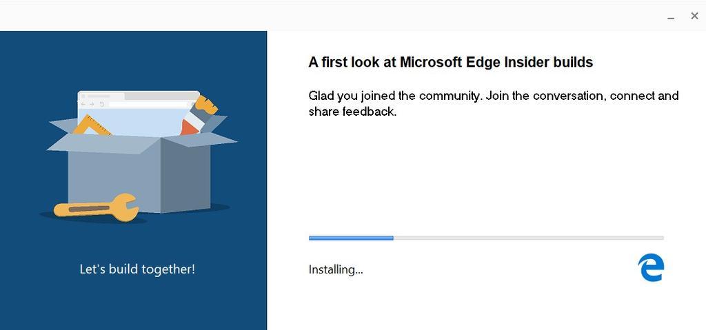 Proceso de instalación de Chromium Edge