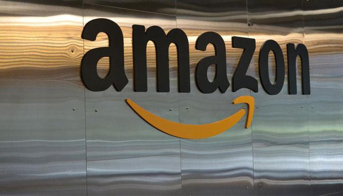Logotipo de Amazon con fondo brillante