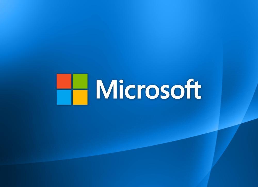Logotipo de Microsoft con fondo azul