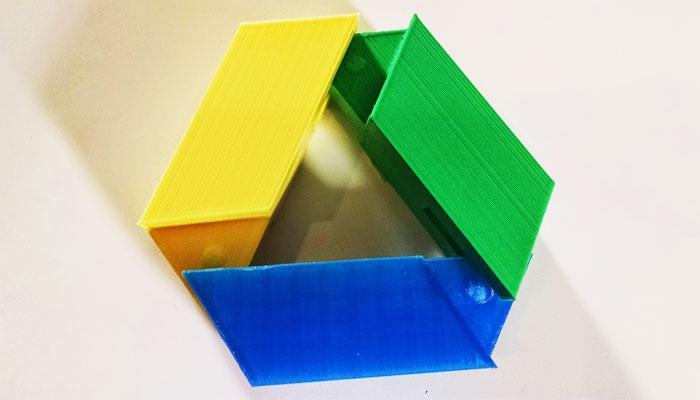Logotipo de Google Drive madera