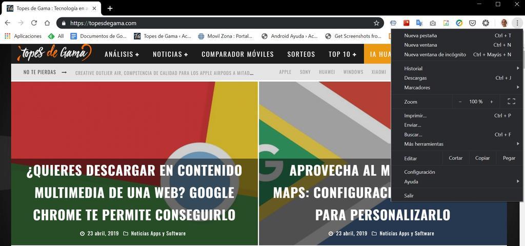 Modo oscuro en Google Chrome