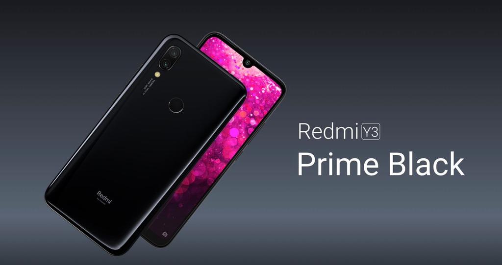 Teléfono Redmi Y3 de color negro