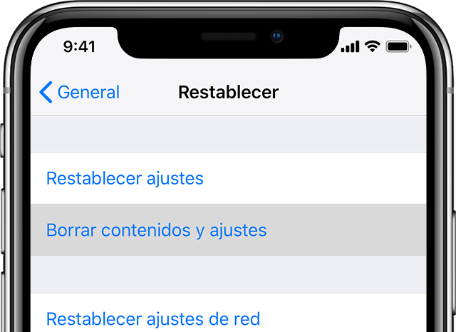 Restaurar un tablet Apple iPad