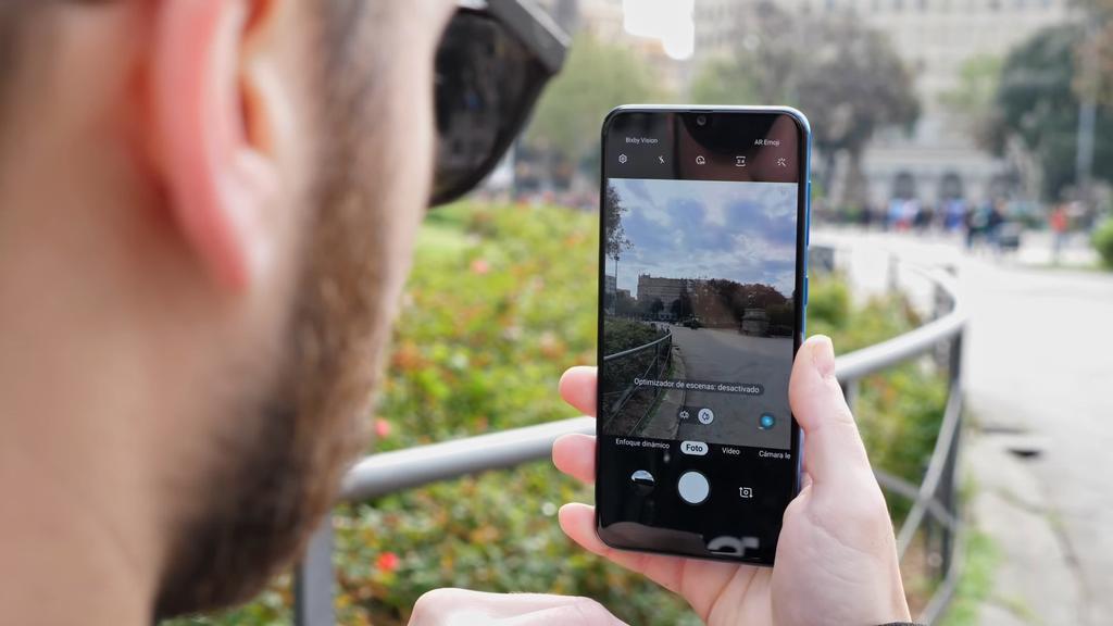 Interfaz de la cámara del Samsung Galaxy A50