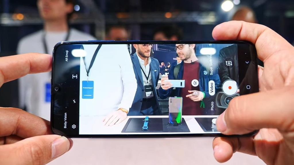 Interfaz de la cámara del Samsung Galaxy A70