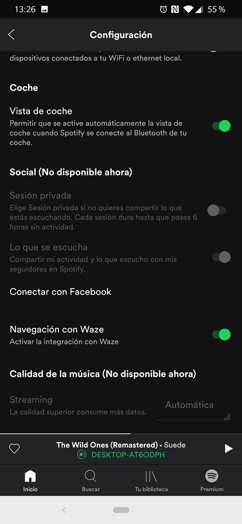 Apartado social en Spotify