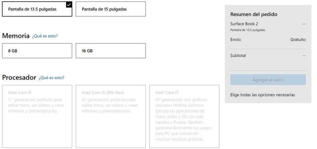 Nueva Surface Book 2 en tienda de España