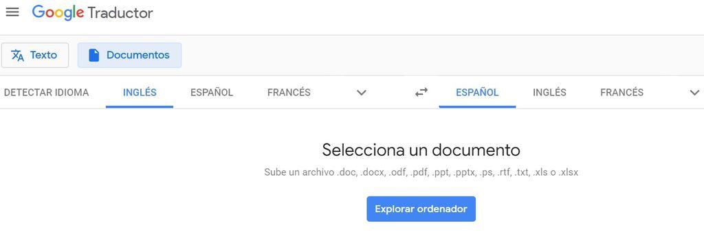 Traducir documentos con el traductor de Google