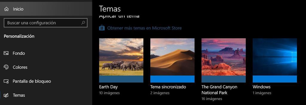 Uso de fondos de pantalla en Windows 10