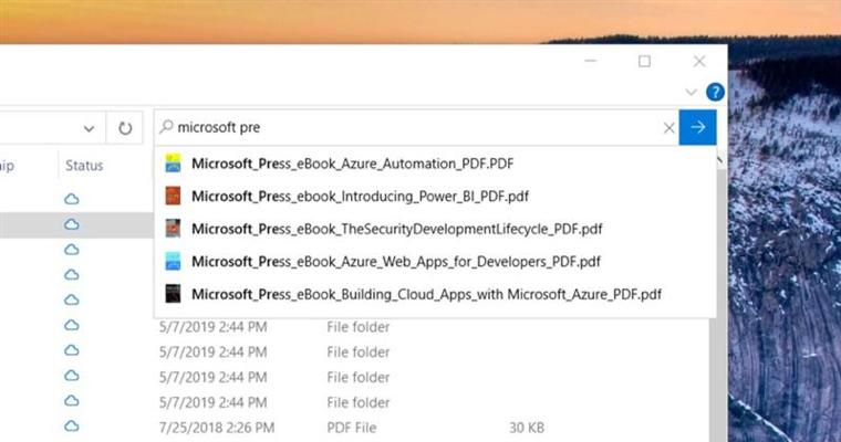Nuevas búsquedas en el Explorador de Archivos Windows 10