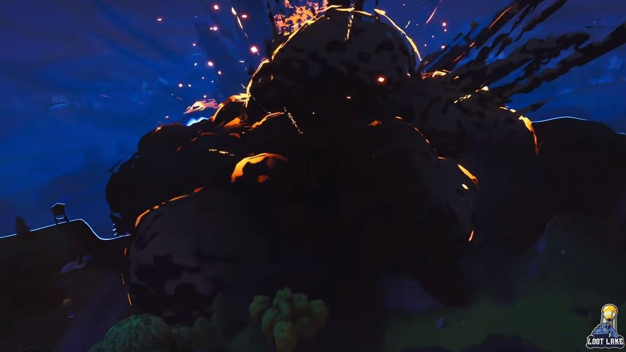 Destrucción volcán Fortnite