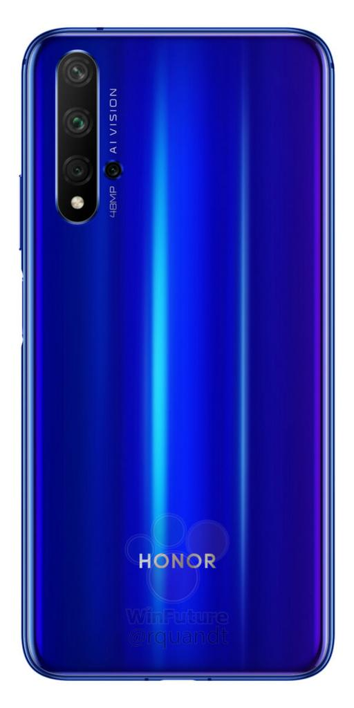 Honor 20 por detrás