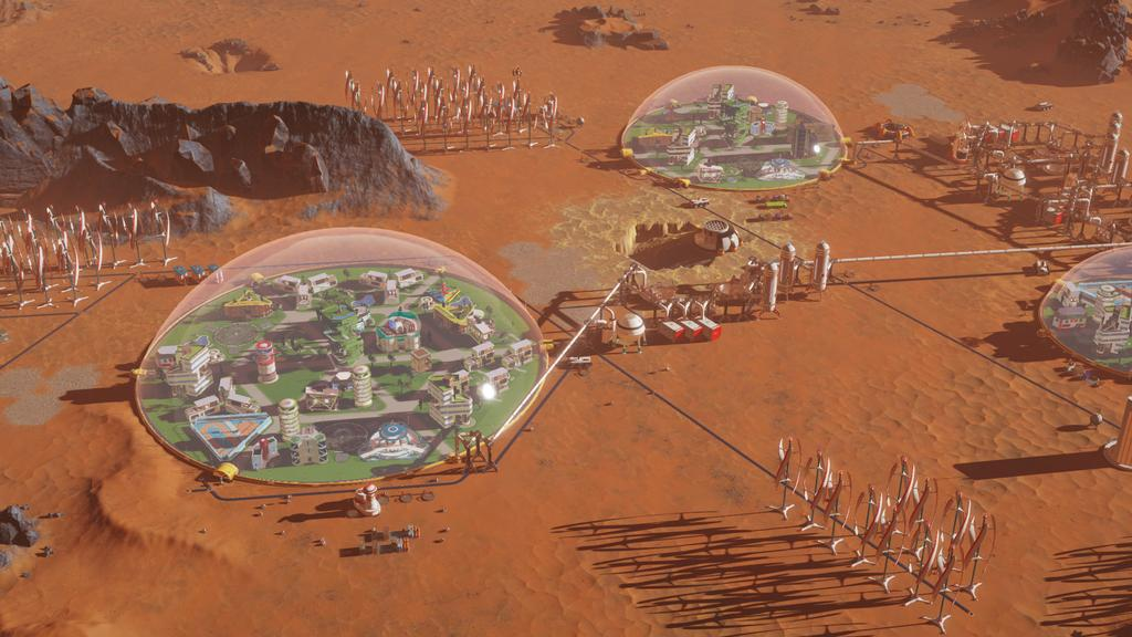 Interfaz de Surviving Mars