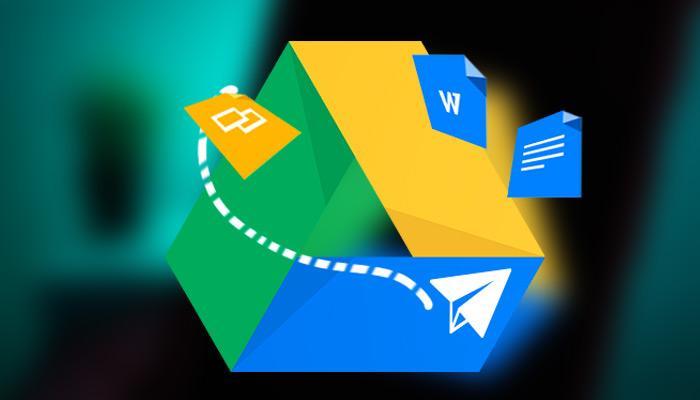Logtipo de Google Drive con fondo oscuro