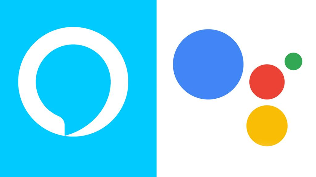 Logo de Alexa y Google Assistant