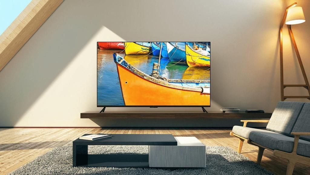 Smart TV colocada en el salón