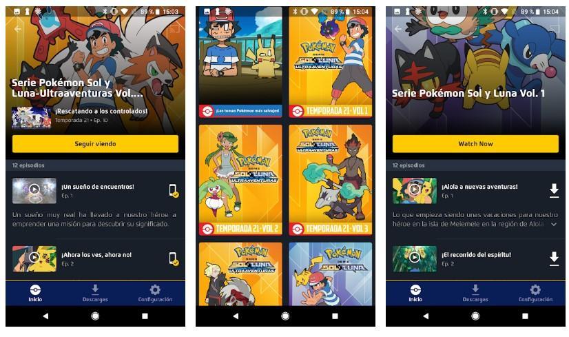 Aplicación TV Pokemon