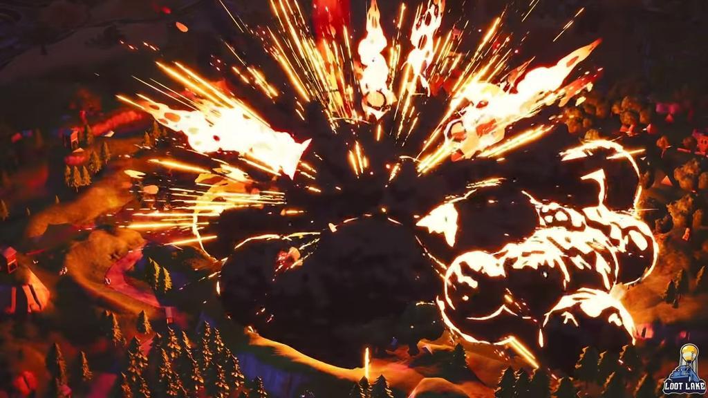 Erupción volcán en Fortnite