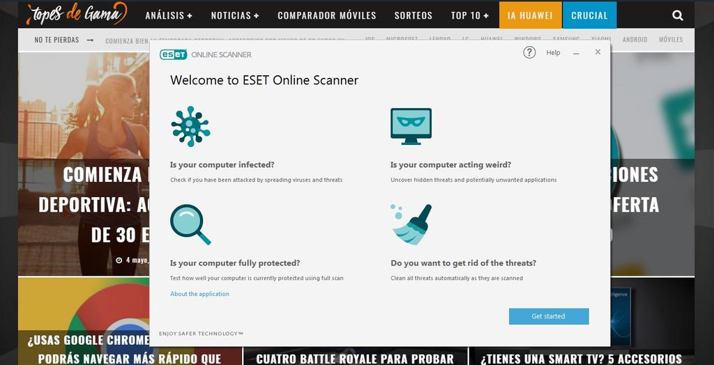 ESET Online Escanner para Windows 10