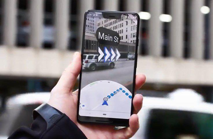 Realidad aumentada en Google Maps