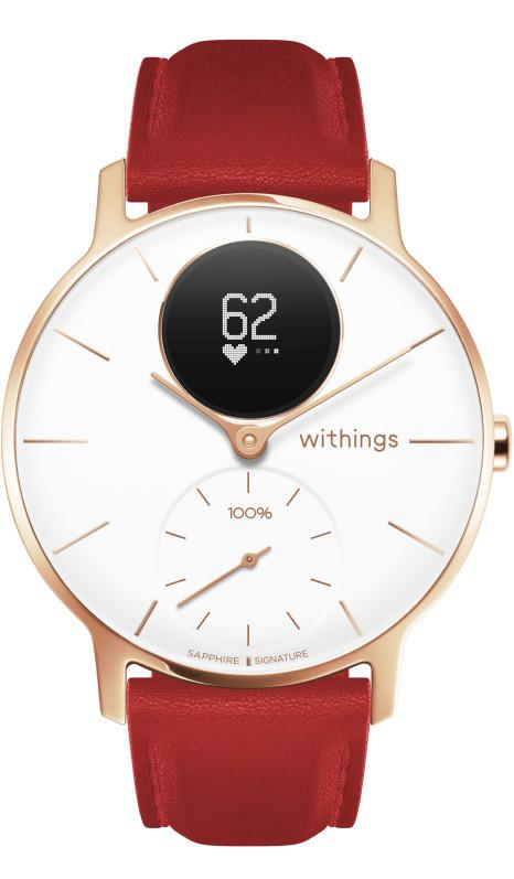 Smartwatch Withings Steel HR Sapphire Signature de color dorado