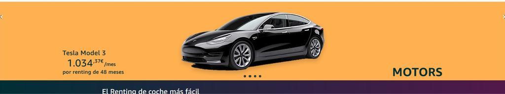 Coche Tesla en Amazon