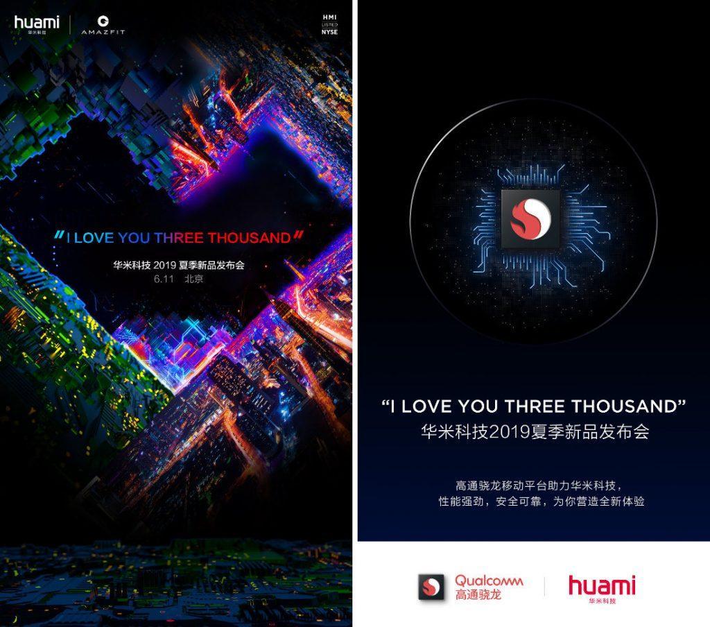 Anuncio de la presentación de Xiaomi Amazfit Verge 2