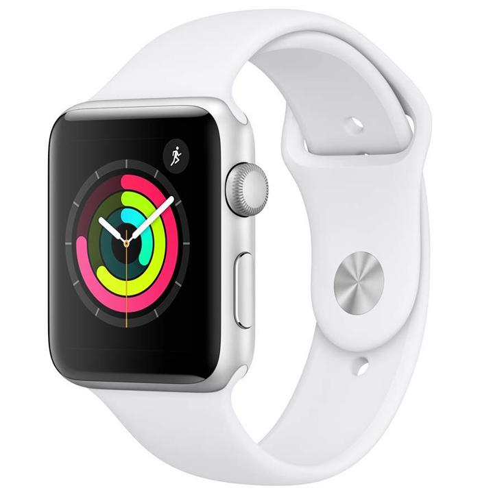 Apple Watch Series 3 de color blanco