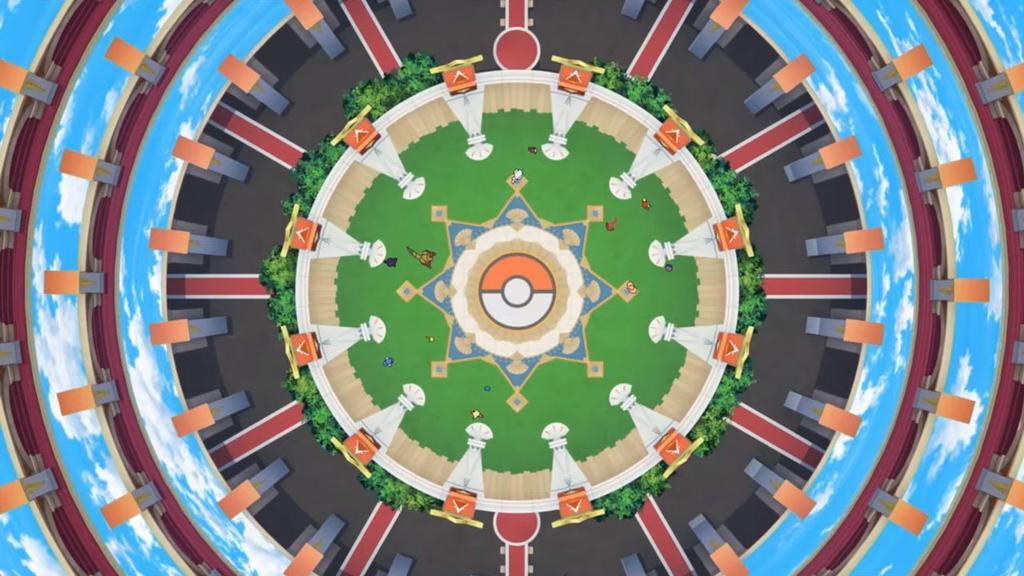 Campo de batalla en Pokémon Masters