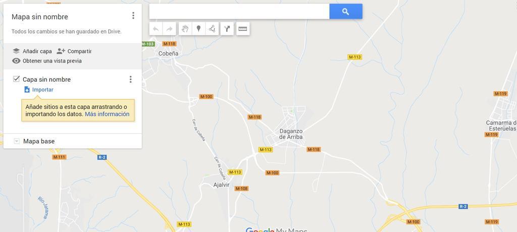Interfaz crear mapas con Google Maps