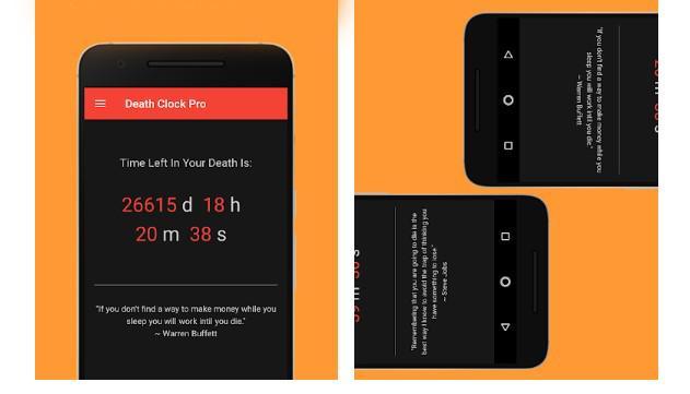 Aplicación Death Clock Pro