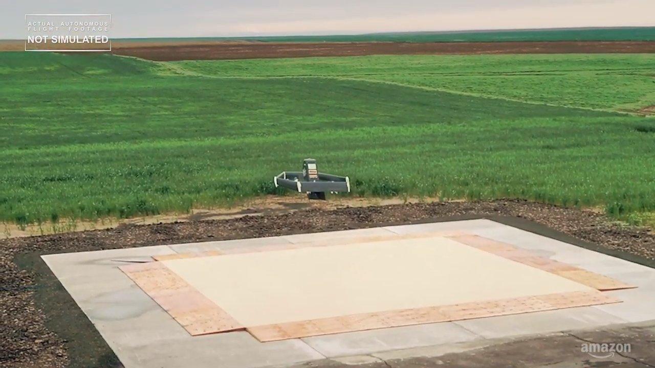 Dron de reparto de Amazon