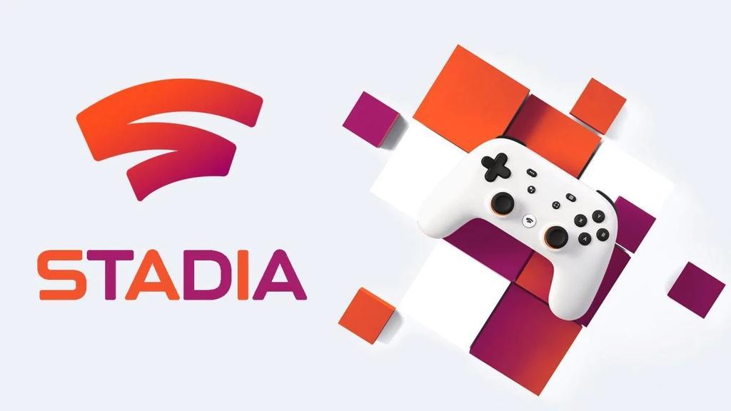 Logotipo de Google Stadia con mando