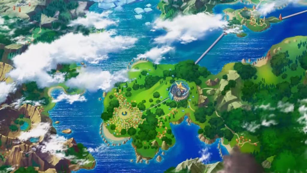 Isla Pasio en Pokémon Masters