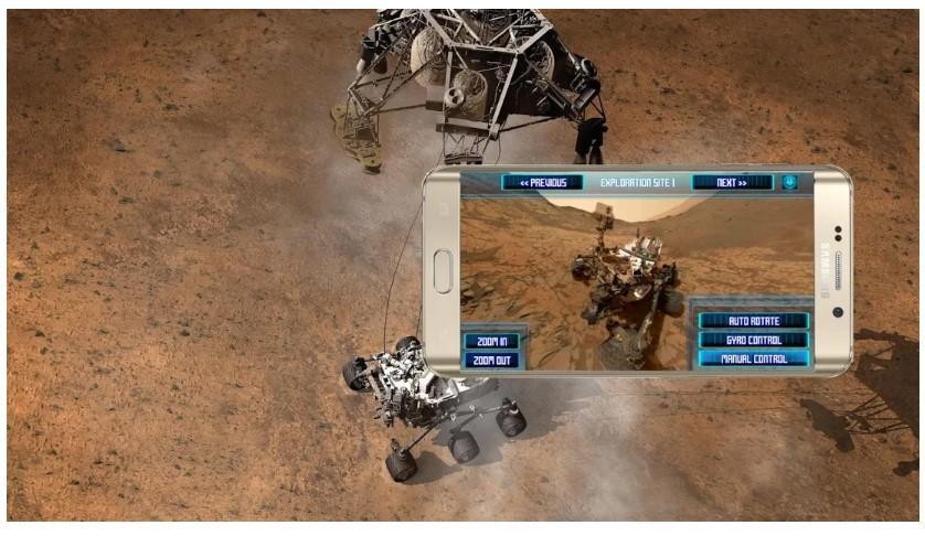 Aplicación Visita Marte en 360